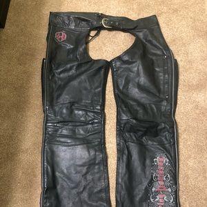 Harley Davidson Leather Chaps Riding Pants